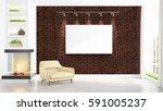 modern interior with empty... | Shutterstock . vector #591005237