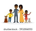 small family. vector flat... | Shutterstock .eps vector #591006053