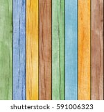 seamless colored wooden texture | Shutterstock . vector #591006323
