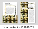 abstract vector layout... | Shutterstock .eps vector #591013397