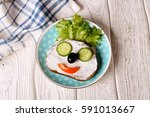 kids meal  breakfast or lunch... | Shutterstock . vector #591013667