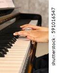 Lady Playing Piano