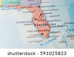 florida map | Shutterstock . vector #591025823