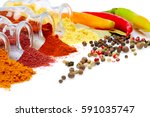 rich colorful spicy italian... | Shutterstock . vector #591035747