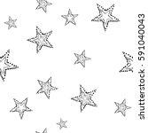 vector stars  seamless pattern .... | Shutterstock .eps vector #591040043