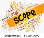 scope word cloud  business...   Shutterstock .eps vector #591043097