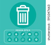 vector illustration delete icon | Shutterstock .eps vector #591047663