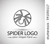 crab logo minimalist with...   Shutterstock .eps vector #591050117