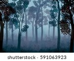 vector illustration of forest... | Shutterstock .eps vector #591063923