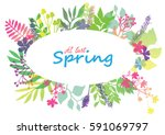 at last spring floral card...   Shutterstock .eps vector #591069797