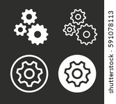 settings vector icons set.... | Shutterstock .eps vector #591078113