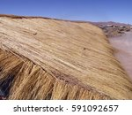 adobe straw roof chile south... | Shutterstock . vector #591092657