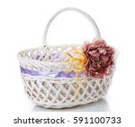 Wicker Basket Decorated With...
