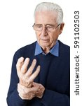 senior man suffering with... | Shutterstock . vector #591102503