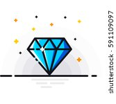 diamond | Shutterstock .eps vector #591109097