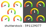 meter signs infographic gauge... | Shutterstock .eps vector #591129077