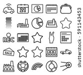 trendy icons set. set of 25...