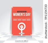 a4 style flyer  poster design.... | Shutterstock .eps vector #591154733
