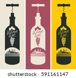 banners set with a bottle of... | Shutterstock .eps vector #591161147