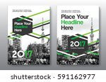 green color scheme with city... | Shutterstock .eps vector #591162977