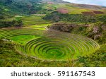 unique ancient inca circular... | Shutterstock . vector #591167543