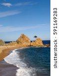 la mar menuda beach of tossa de ... | Shutterstock . vector #591169283