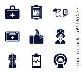 patient icons set. set of 9...   Shutterstock .eps vector #591169577
