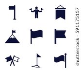 flag icons set. set of 9 flag...