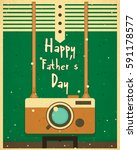fathers day greeting card.... | Shutterstock .eps vector #591178577