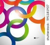 rainbow loops  vector abstract...   Shutterstock .eps vector #591181937