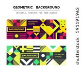 simple geometric backgrounds... | Shutterstock .eps vector #591191963