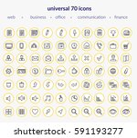 set of modern icons  web icons  ... | Shutterstock .eps vector #591193277