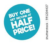 buy one get second at half... | Shutterstock .eps vector #591204437