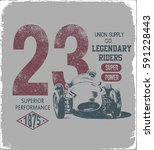 vintage race car for printing... | Shutterstock .eps vector #591228443