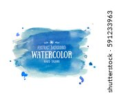 blue abstract aquarelle... | Shutterstock .eps vector #591233963