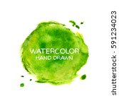 green abstract aquarelle... | Shutterstock .eps vector #591234023