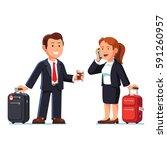 businessman and businesswoman... | Shutterstock .eps vector #591260957