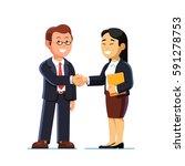 businesswoman and businessman... | Shutterstock .eps vector #591278753