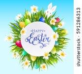 vector background for easter...   Shutterstock .eps vector #591286313