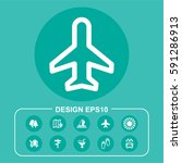 vector illustration plane icon | Shutterstock .eps vector #591286913
