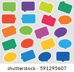 colored speech bubble with... | Shutterstock .eps vector #591295607