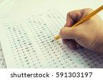 optical form of standardized... | Shutterstock . vector #591303197