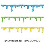 set of colored 3d seamless... | Shutterstock .eps vector #591309473
