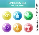colorful vector spheres set...