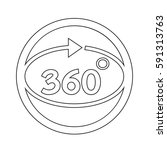 360 degree icon | Shutterstock .eps vector #591313763