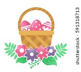Color Basket With Easter Eggs....