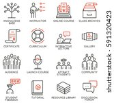vector set of 16 icons related... | Shutterstock .eps vector #591320423