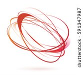 bright red orange swirl wind... | Shutterstock .eps vector #591347987
