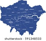 greater london map showing all... | Shutterstock .eps vector #591348533