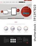 clean modern website interface...